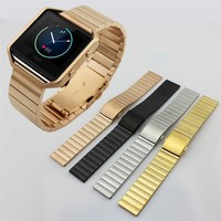 Fitbit BLAZE Stainless Steel Wrist band Replacement For Fitbit Blaze Activity Tracker watch men wrist sweat band