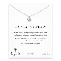 look within eye necklace, sterling silver
