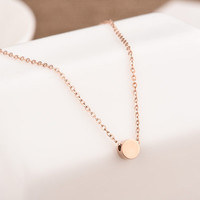 Fashion Gold Pendant Necklace Jewelry Accessories Collarbone Chain _ 8450