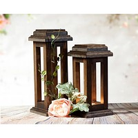 Reclaimed Wood Lanterns, Rustic Wooden lantern