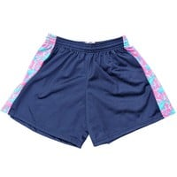 Girls Mesh Lacrosse Shorts - Navy/Pink | Lacrosse Unlimited