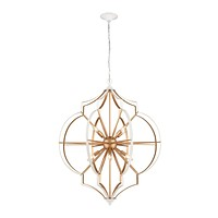 Laguna Beach 8-Light Chandelier in Gold and White