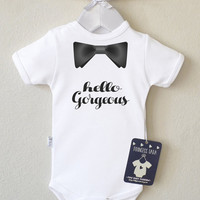 Hipster Baby Boy Clothes. Hipster Baby Boy Shirt. Hipster Baby Outfit. Gender Reveal Shirt. Infant Clothing. Choose Your Color