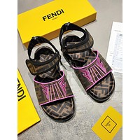 Fendi Ff Letter Printing Button Women S Shoes-1