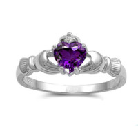 Celtic Claddagh Ring - Solid Sterling Silver - Christmas Gift