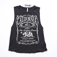 CALIFORNIA LOCALLY GROWN MUSCLE TEE