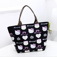 Fashion Women Bag Nylon Hello Kitty Cute Shoulder Bag Bolsa Feminina Bolsas Bags Handbag Mochila sac a main
