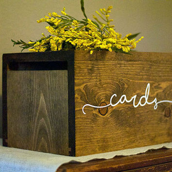 Rustic Wedding Card Box, Personalized Wedding Card Box, Wedding Money Box, rustic wedding, rustic card box, wedding cards, card holder