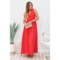 Sweet Melody Maxi Dress (Red)