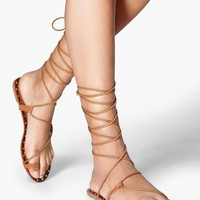 Grace Stud Trim Knee High Sandal