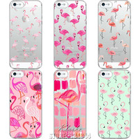 Cute Animals Transparent Soft Silicone Cases for iPhone 5 5s SE Flamingo Phone Case Cover