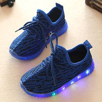 Boys running shoes autumn kids fashion sneakers girls mesh shoes children sports sneakers todder Breathable shoes 436d