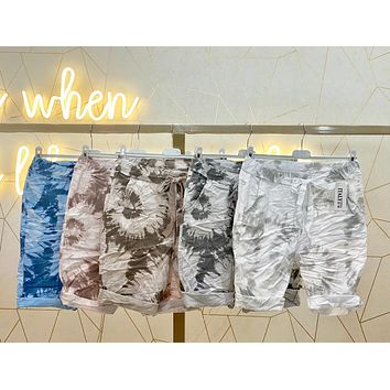 TIE DYE SHORTS WITH DRAWSTRING DETAIL FROM ITALY