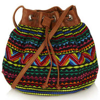 Embroidered Aztec Pouch - Bags & Wallets - Bags & Accessories - Topshop USA
