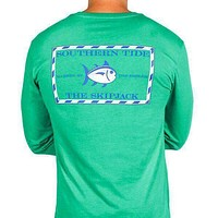 Long Sleeve Original Skipjack Tee in Grass Green by Southern Tide