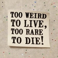 Panic! at the Disco Too Weird to Live, Too Rare to Die Patch