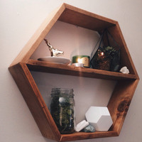 Rustic Honey Comb Shelves