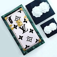 LV Louis Vuitton tide brand men and women fashion wild soft shell iphone7 mobile phone case cover