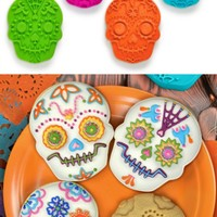 Sugar Skull Mardi Gras Cookie Cutter SET