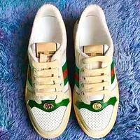 GUCCI Fashion New Contrast Color Women Men Sports Leisure Running Shoes