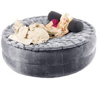 Smart Air Beds Sumo SAC 4-in-1 Ultimate Inflatable V2.0 Chair/Sofa/Bed, Gray