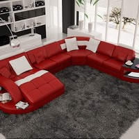 RJ Large Unique Leather Sectional by Scene Furniture | Opulentitems.com - Opulentitems.com