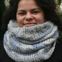 Knit Snood, Cowl, Neckwarmer, Infinity scarf, Tube scarf, Women's winter scarf, Knitted circle scarf, Womens Accessories