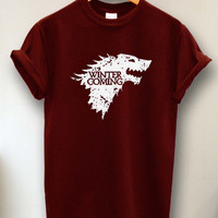 Winter is Coming Game of Thrones tshirt size s -3xl