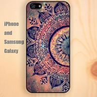 Starry Mandala pattern Pineapple iphone 6 6 plus iPhone 5 5S 5C case Samsung S3,S4,S5 case Ipod Silicone plastic Phone cover Waterproof