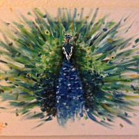 Hand Painted Peacock