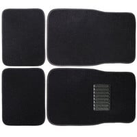 Furnistar 4-Piece Car Vehicle Universal Floor Mats with Black Color