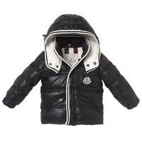 Moncler Children's wear black winter down jacket/baby