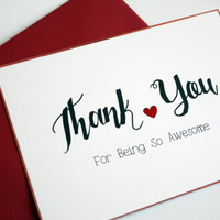 Valentine Card Thank You For Being so Awesome
