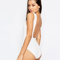 Missguided Ribbed Racer Neck Body at asos.com