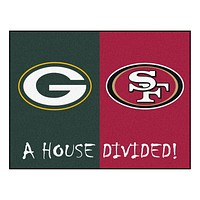 NFL House Divided - Packers / 49ers House Divided Mat