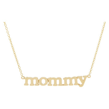 """Gold """"Mommy"""" Pendant Necklace"""