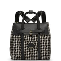 Jetsetter Convertible Houndstooth Backpack