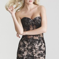 Lace Applique Mini-Dress by NightMoves by Allure