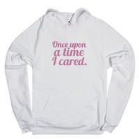 Once-Unisex White Hoodie