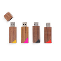 "Wood Flash Drive : Geometric 8GB USB Drive in Walnut, ""The Echo Bevel"""