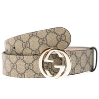 Gucci Belt % MADE IN ITALY Woman Beige 370543KGDHG-9643
