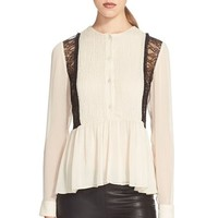 Women's Alice + Olivia 'Elysia' Peplum Top,