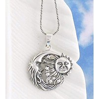 Flying Sun and Moon Pendant