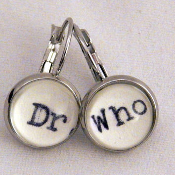 Doctor Who earrings, Dr Who jewellery, Dr Who geekery, gifts under 15, Whovian, Dr Who stocking filler, BBC Doctor Who, sci fi fantasy gift