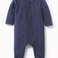 Quilted Footed One-Piece for Baby   Old Navy