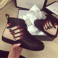 Gucci Fashion Casual Shoes Snake-13
