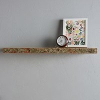 Live-Edge Wood Floating Shelf by Anthropologie in Natural Size: