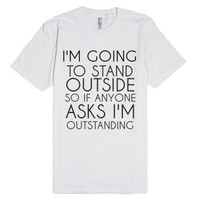 Outstanding-Unisex White T-Shirt