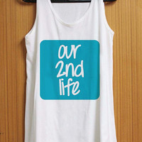 Our 2nd Life tank top for womens and mens heppy feed