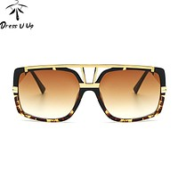 DRESSUUP Oversized Sunglasses Men Brand Designer Fashion Sun Glasses Shades Male Mirror Glasses Oculos De Sol Masculino